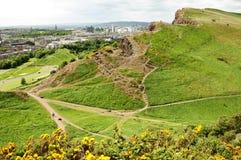 Sikt från Arthurs Seat, Edinburg royaltyfri fotografi
