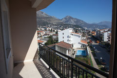Sikt från balkongen Fotografering för Bildbyråer