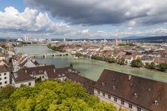 Sikt från Baseln Munster Royaltyfri Fotografi