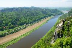 Sikt från bastionen av Elben royaltyfri bild