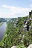 Sikt från bastionen av Elben Arkivfoto