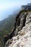 Sikt från bergen arkivfoton