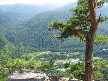 Sikt från bergen av Kaukasuset Royaltyfri Fotografi