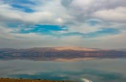Sikt från bergen till det döda havet i Israel royaltyfria bilder
