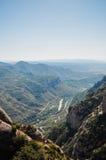 Sikt från berget av Montserrat royaltyfria bilder
