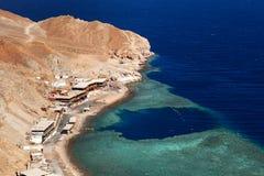 Sikt från berget till Röda havet arkivfoto