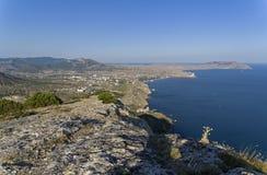 Sikt från bergssidan Black Sea kust, Krim arkivfoto