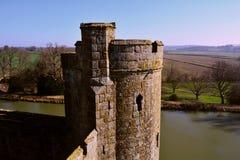 Sikt från Bodiam slotttorn Arkivfoton