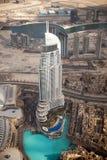 Sikt från Burj Khalifa Dubai Arkivbilder