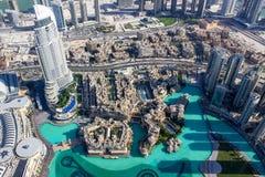 Sikt från Burj khalifatorn 1 Royaltyfri Fotografi