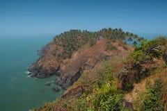 Sikt från Cabo De Rama Fort. Goa Indien Royaltyfria Bilder