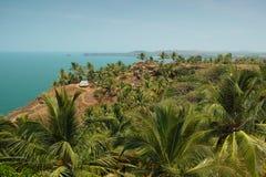 Sikt från Cabo De Rama Fort. Goa Indien Arkivfoton