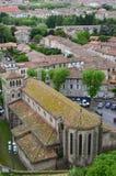 Sikt från Carcassonne arkivbild