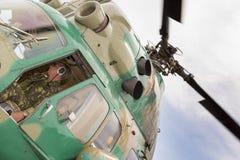 Sikt från cockpiten av en helikopter Royaltyfri Fotografi