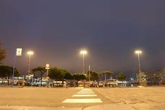 Sikt från Columbus Monument, Barcelona över porten Fotografering för Bildbyråer