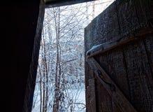 Sikt från dörren Arkivbilder