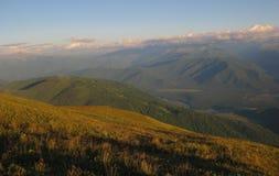 Sikt från de Altai bergen Royaltyfri Bild