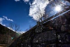 Sikt från de schweiziska fjällängarna LXIV Royaltyfri Fotografi