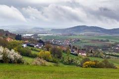 Sikt från den Banz abbotskloster, Tyskland Royaltyfri Bild