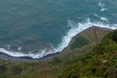 Sikt från den Cabo Girao klippan på madeiraön Royaltyfria Foton