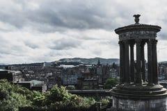 Sikt från den Calton Kulle-Edinburg royaltyfri fotografi