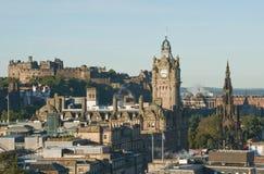 Sikt från den Calton kullen, Edinburgh Royaltyfri Fotografi