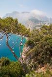 Sikt från den Capri ön, Campania, Italien Arkivfoton