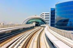 Sikt från den Dubai tunnelbanan Arkivbilder