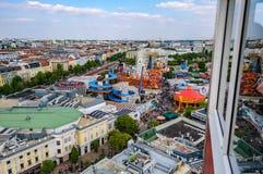 Sikt från den gamla Ferris Wheel i Wien, Österrike fotografering för bildbyråer