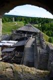 Sikt från den gamla Rakvere slotten Arkivfoton