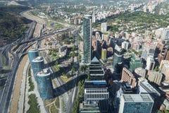 Sikt från den Gran Torre Santiago Arkivbilder