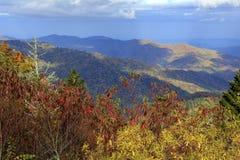 Sikt från den Great Smoky Mountains nationalparken royaltyfri fotografi