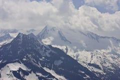 Sikt från den Hintertux glaciären, Tyrol, Österrike Royaltyfri Fotografi