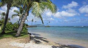 Sikt från den Kahala stranden Arkivfoto