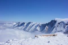 Sikt från den Kitzsteinhorn glaciären Arkivfoto