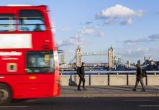 Sikt från den London bron Fotografering för Bildbyråer