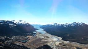 Sikt från den Mendenhall glaciären Juneau Alaska royaltyfria bilder