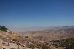 Sikt från den monteringsNebo Jordanien, Arkivfoton