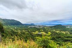 Sikt från den Nuuanu Pali utkiken Royaltyfri Fotografi