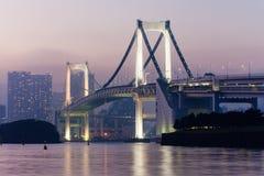 sikt från den Odaiba ön, Tokyo, Japan Royaltyfri Bild