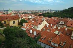 Sikt från den Prague slotten Arkivbild