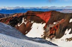 Sikt från den röda krater i den Tongariro nationalparken, ny Zea Arkivfoton