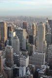 Sikt från den Rockefeller mitten, New York City arkivfoto
