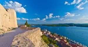 Sikt från den St Michael fästningen Arkivfoto