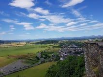 Sikt från den Stirling slotten Arkivbilder