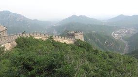 Sikt från den stora väggen av Kina Arkivbilder
