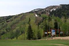 Sikt från den Thunderhead slingan, Steamboat Springs, Colorado Royaltyfria Foton