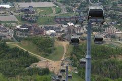 Sikt från den Thunderhead slingan, Steamboat Springs, Colorado Royaltyfria Bilder