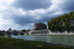 Sikt från den Tiber floden Arkivbild