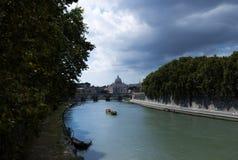 Sikt från den Tiber floden Arkivfoton